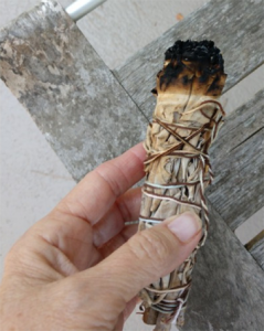 Large Smudge Stick Burned